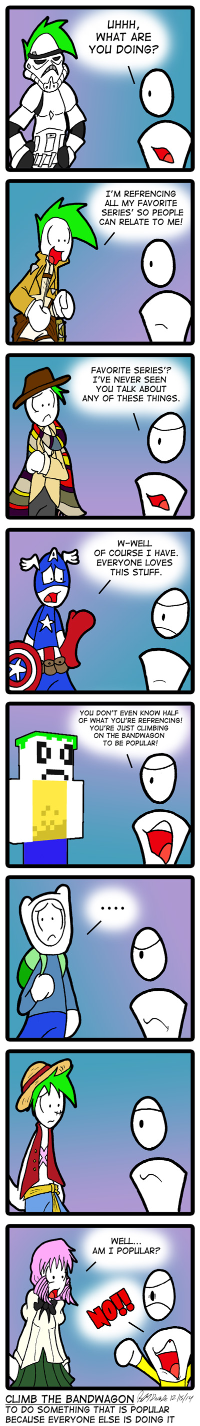 This comic is going to be so dated in ten years.
