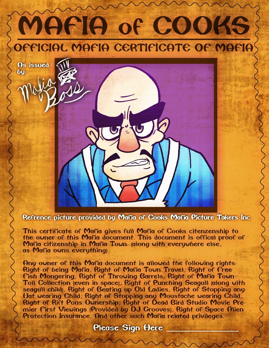 Mafia Certificate